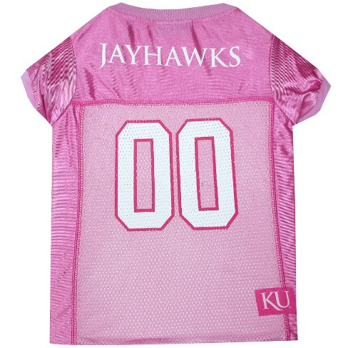 NCAA Pets First Kansas Jayhawks Pink Jersey - L - image 1 of 2