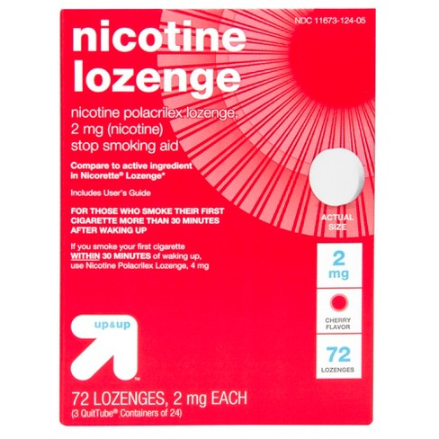Nicotine 2mg Lozenge Stop Smoking Aid Sugar Free Cherry 72ct Up Compare To Active Ing In Nicorette Target