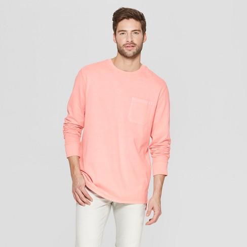 Men's Striped Standard Fit Long Sleeve Garment Dye Pocket T-Shirt - Goodfellow & Co™ - image 1 of 3