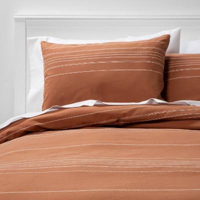 Woven Stripe Duvet Cover Set Cream - Project 62™ + Nate Berkus™