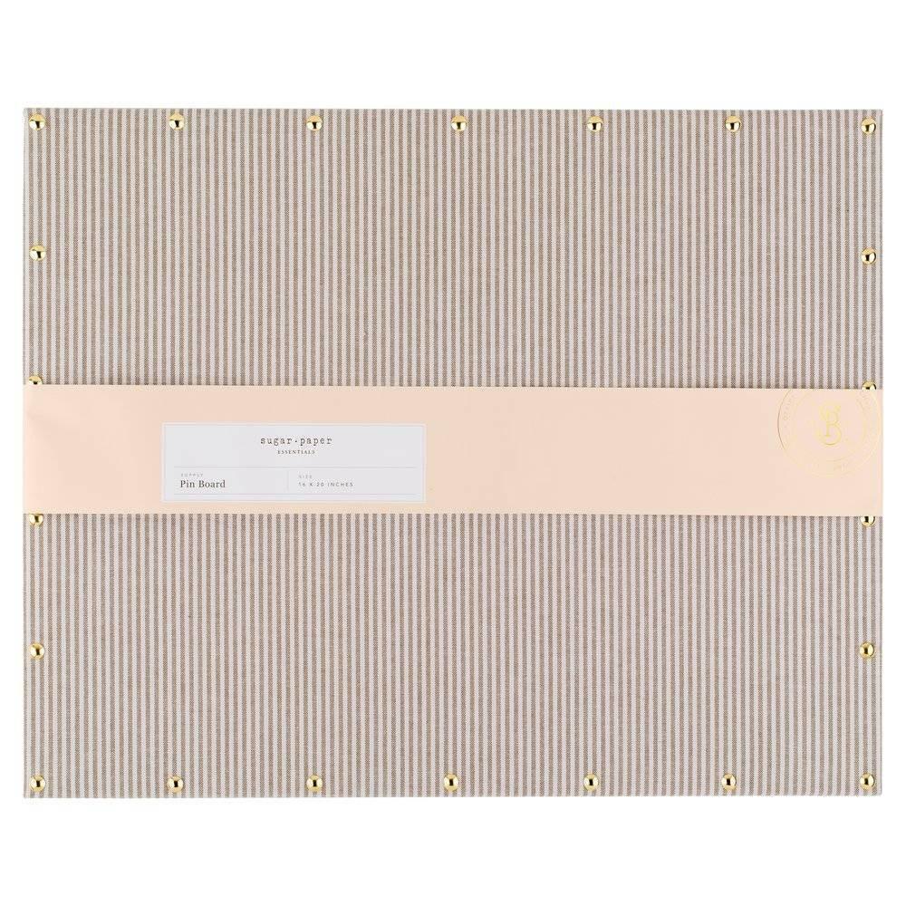 "Image of ""16"""" x 20"""" Fabric Pin Board - Gray Stripes - Sugar Paper Essentials"""