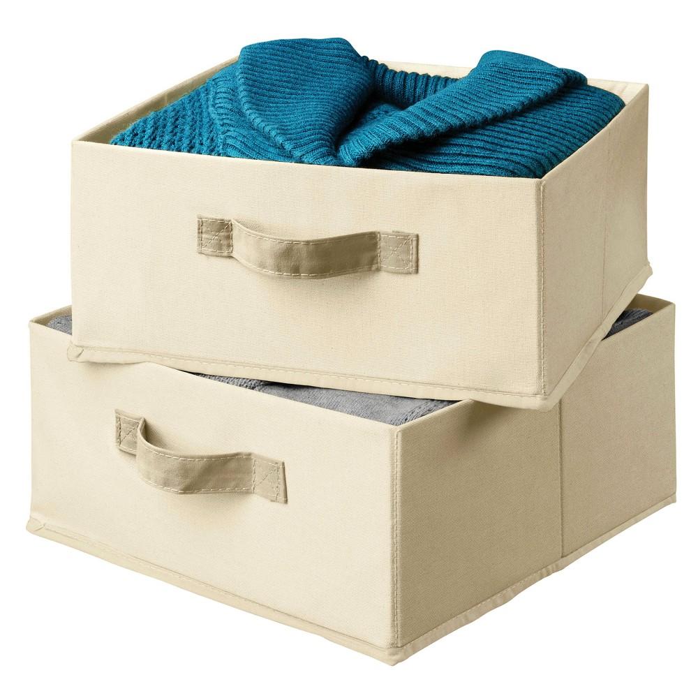 Image of 2pk Decorative Bin Drawer Organizer Natura - Honey-Can-Do, White