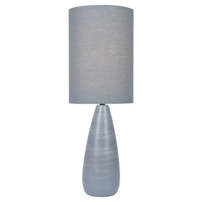 Quatro Table Lamp Brushed Gray  - Lite Source