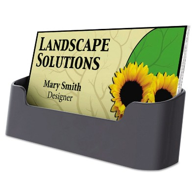 UNIVERSAL Business Card Holder Capacity 50 3 1/2 x 2 Cards Black 08109