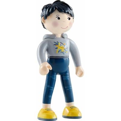 "HABA Little Friends Liam - 4"" Boy Dollhouse Toy Figure with Black Hair"