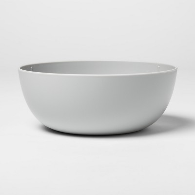 37oz Plastic Cereal Bowl Gray - Room Essentials™