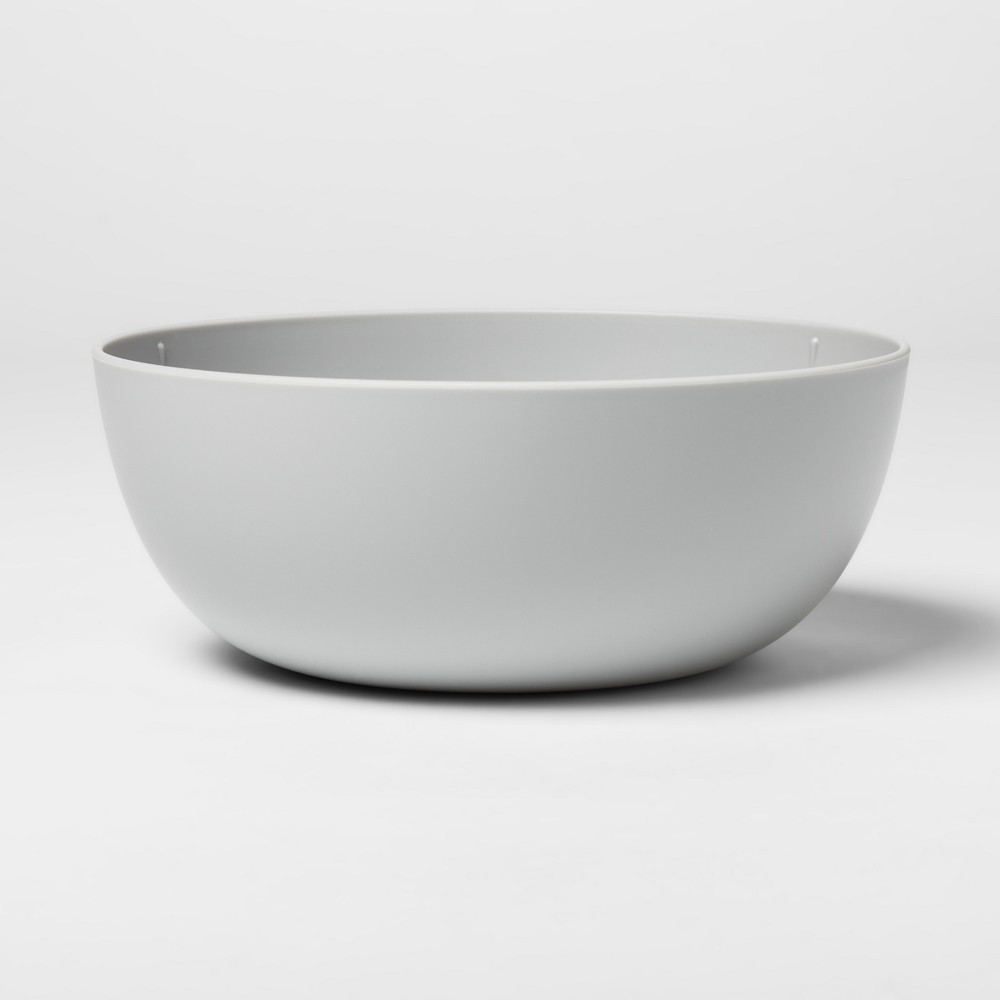 Image of 37oz Plastic Cereal Bowl Gray - Room Essentials
