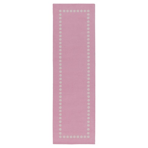 "Bright Pink Lamoine Kid's Rug (2'6""x8') - Surya® - image 1 of 1"