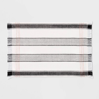 Placemat Woven Striped Black / Orange - Hearth & Hand™ with Magnolia