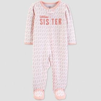 Baby Girls' Little Sister Elephant Sleep 'N Play - Just One You® made by carter's Coral 6M