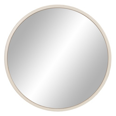 30 Distressed Metal Framed Wall Mirror White