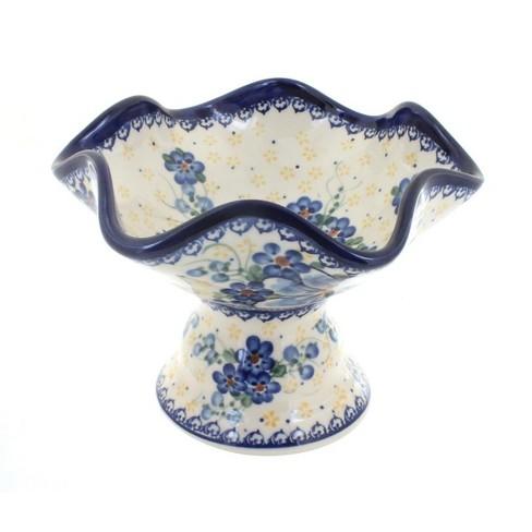 Blue Rose Polish Pottery Daisy Surprise Pedestal Candy Bowl - image 1 of 1