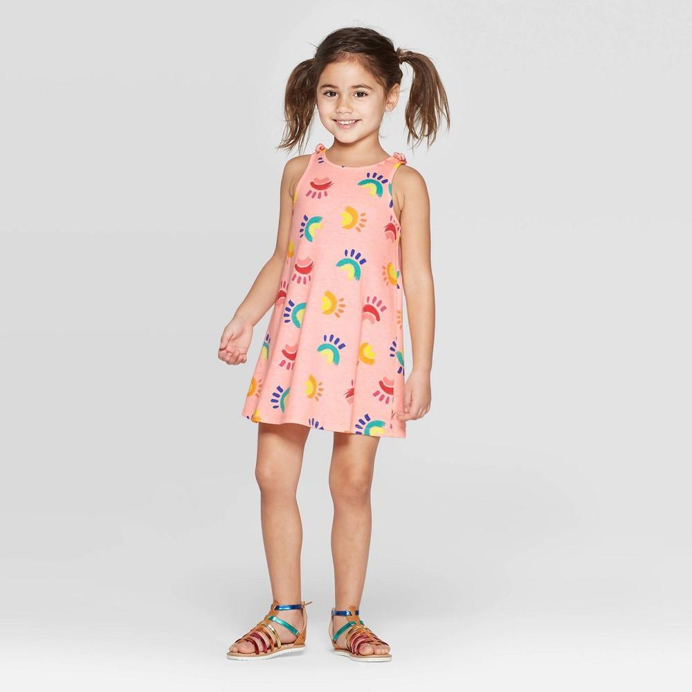 Toddler Girls' A Line Dress - Cat & Jack Peach 4T, Purple