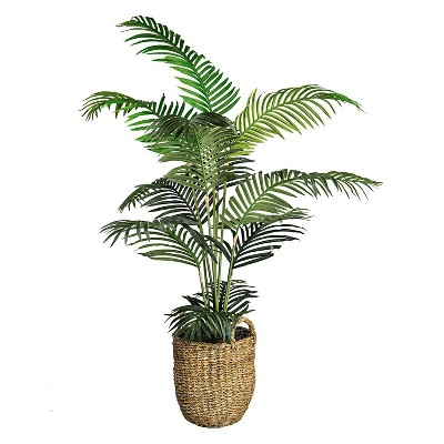 """60"""" x 36"""" Artificial Areca Palm in Basket with Handles - LCG Florals"""