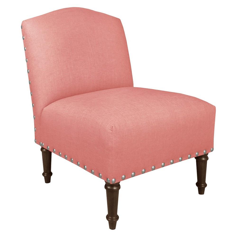 Nail Button Camel Back Chair - Skyline Furniture, Linen Petal