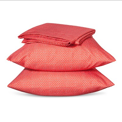 Room Essentials™ Microfiber Sheet Set - Coral Hatches (Queen)