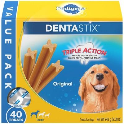 Pedigree Dentastix Original Large Dental Chicken Dental Dog Treats - 40ct