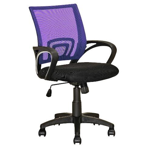 Worke Mesh Back Office Chair Purple Corliving