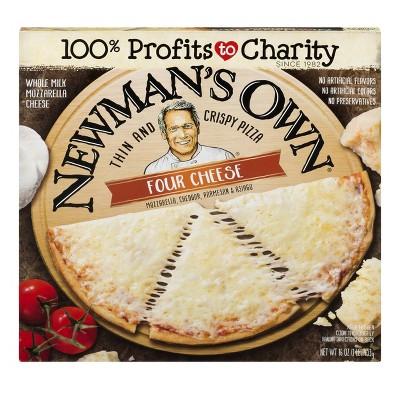 Newman's Own Thin & Crispy Crust Four Cheese Frozen Pizza - 16oz