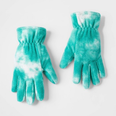 Girls' Tie-Dye Gloves - Cat & Jack™ Green