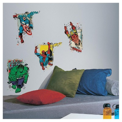 4 MARVEL SUPERHERO BURST Peel and Stick Giant Wall Decals - ROOMMATES