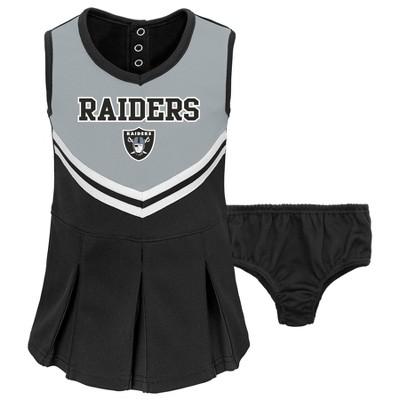 NFL Las Vegas Raiders Toddler Girls' In the Spirit Cheer Set - 18M