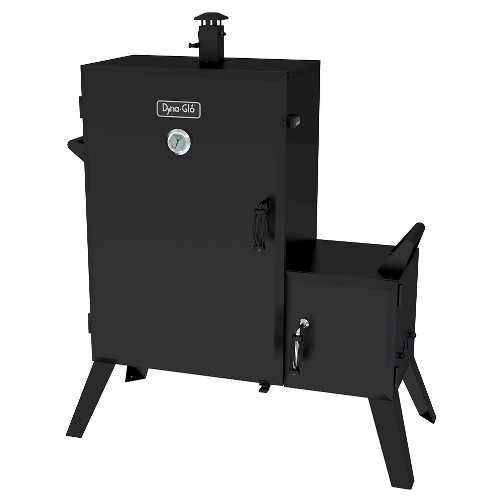 Dyna-Glo Wide Body Vertical Offset Charcoal Smoker, Black 50032340
