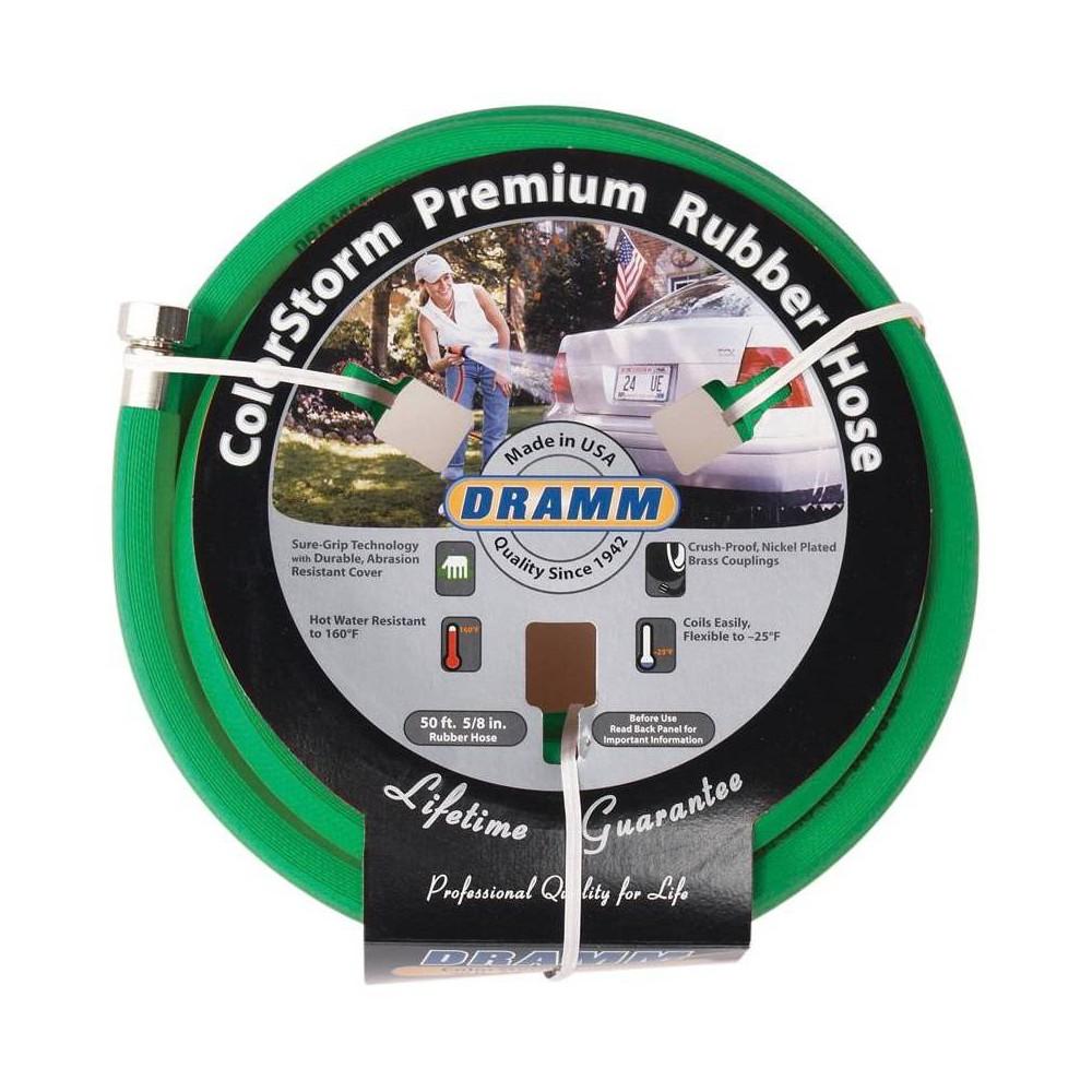 Image of 50' ColorStorm Premium Rubber Garden Hose Green - Dramm