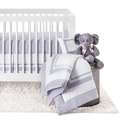 Sweet Jojo Designs 11pc Hotel Crib Set - Gray