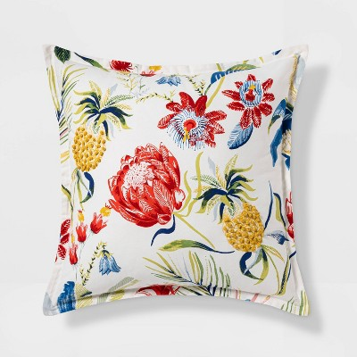 Euro Cabana Floral Throw Pillow Multi - Threshold™
