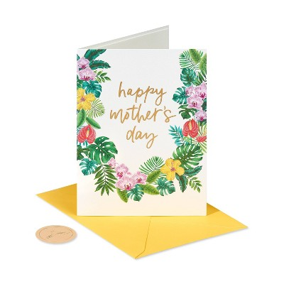 Mothers Day Card Floral Garland - PAPYRUS