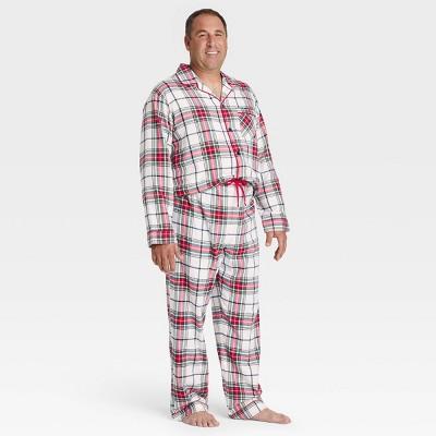 Men's Holiday Plaid Tartan Flannel Pajama Set - Wondershop™ White