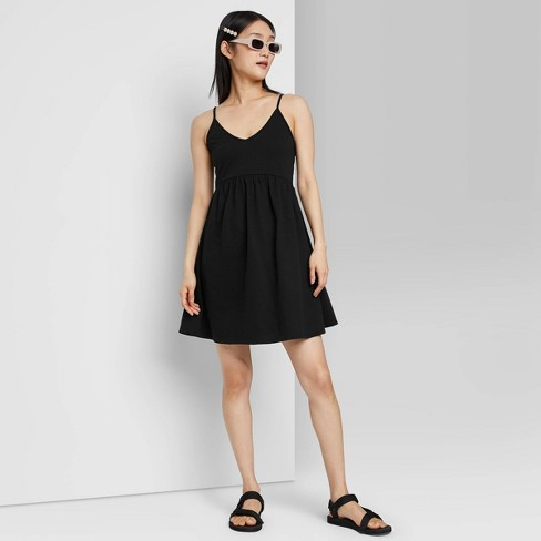 Women's Sleeveless French Terry Leisure Dress - Wild Fable™ - image 1 of 3