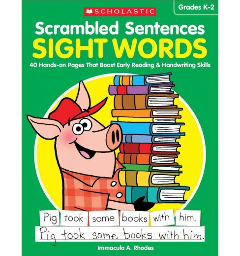 Sight Words Grades K-2 : 40 Hands-On Pages That Boost Early Reading & Handwriting Skills (Paperback) - image 1 of 1