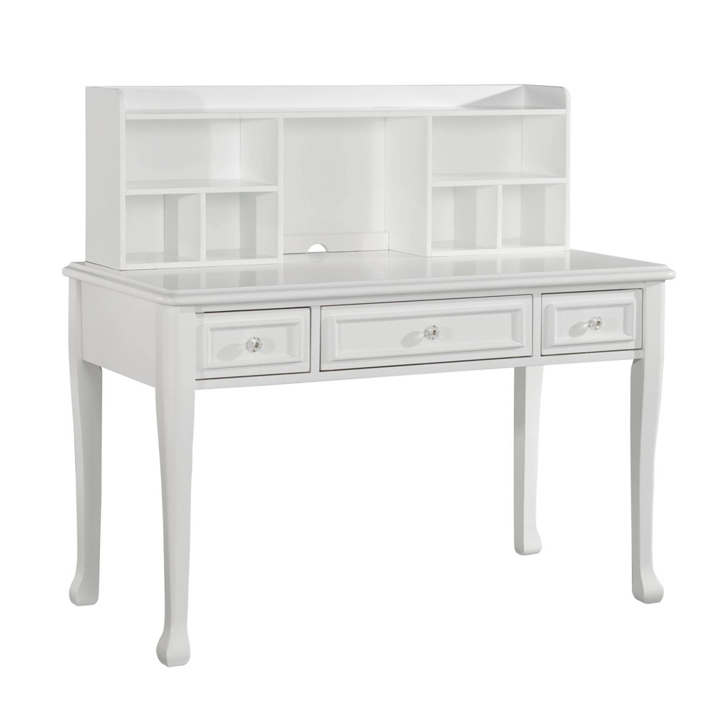 Image of Jenna Desk with Hutch White - Picket House Furnishings