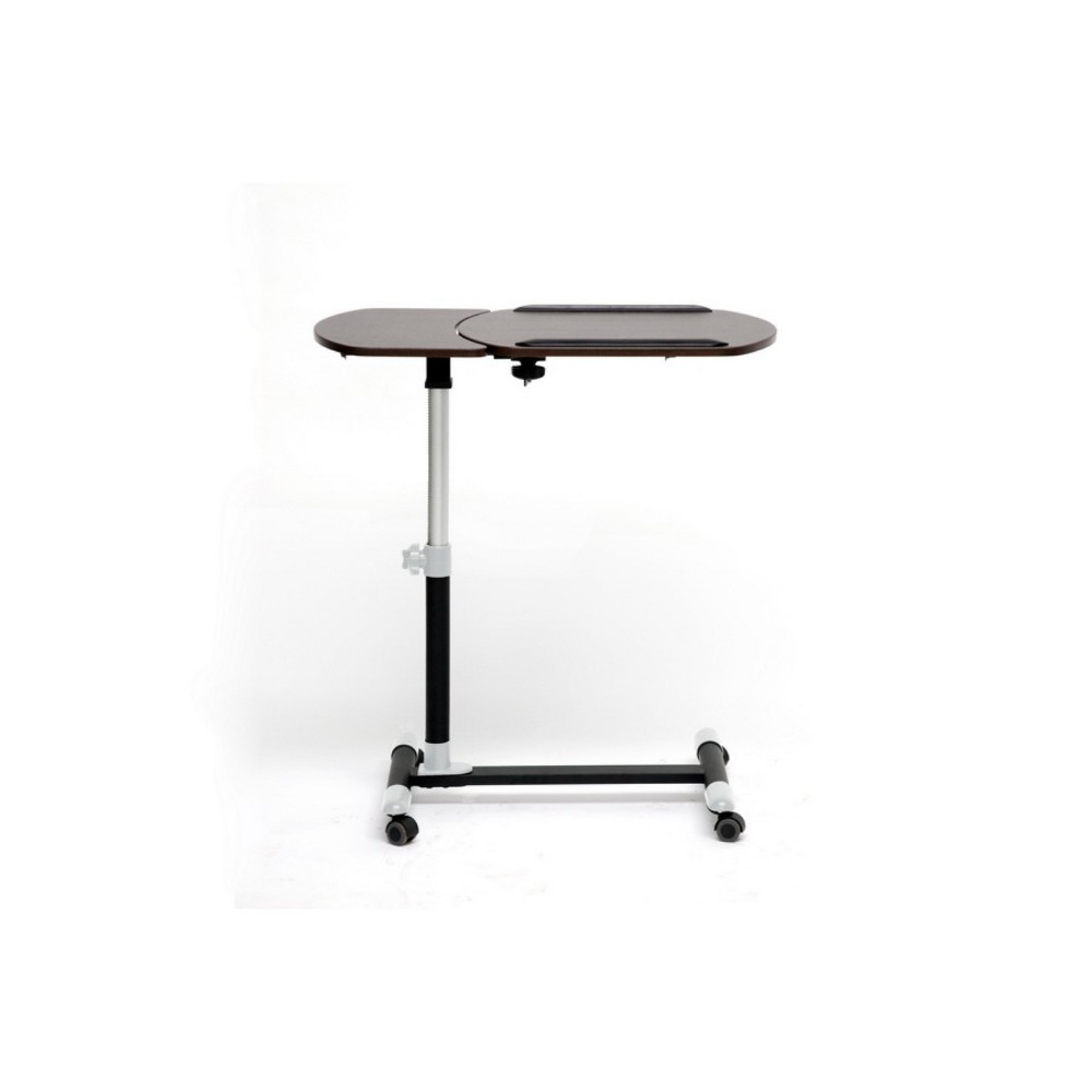 Image of Olsen Wenge/Wheeled Laptop Tray Table with Tilt Control Black - Baxton Studio
