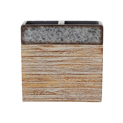 Farmhouse Crate Toothbrush Holder Natural - SKL Home