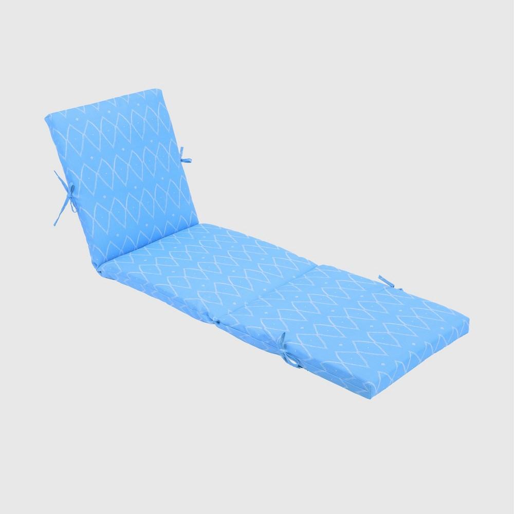 Sayulito Outdoor Chaise Cushion Blue - Opalhouse