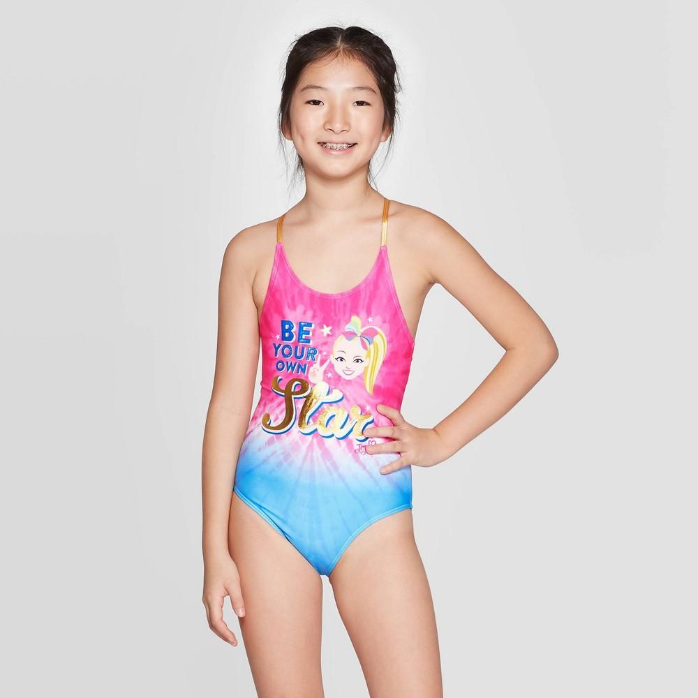 Image of Girls' JoJo Siwa One Piece Swim Suit M, Girl's, Size: Medium, MultiColored