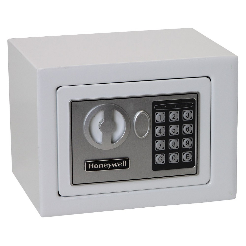 0.17 Cu. Ft. Steel Security Safe - White