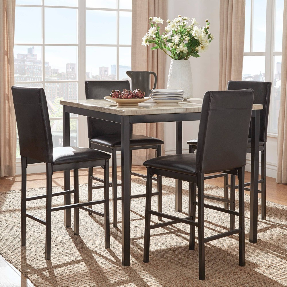 24 Set of 4 Devoe Counter Height Chair Black - Inspire Q