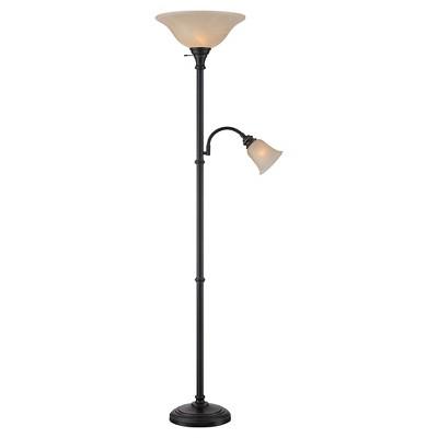 Lite Source Henley 2-LT Floor Lamp - Dark Bronze (Includes CFL Light Bulb)