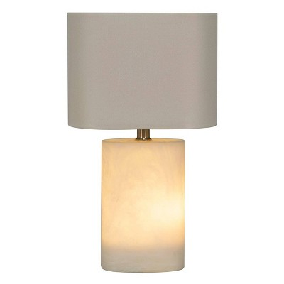 Faux Alabaster Accent Lamp White with Lit Base (Includes LED Light Bulb)- Project 62™