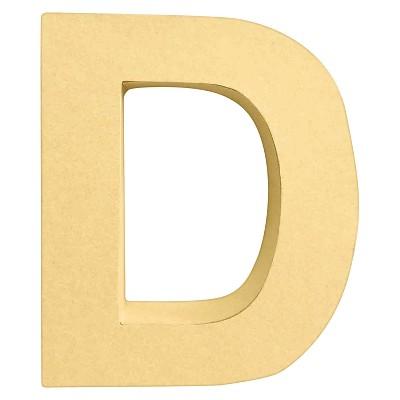 7  Paper Mache Letter D - Hand Made Modern