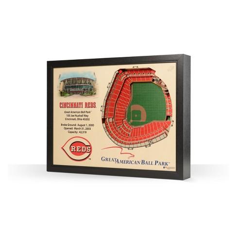 MLB Cincinnati Reds 25 Layer Stadiumviews 3D Wall Art - image 1 of 4