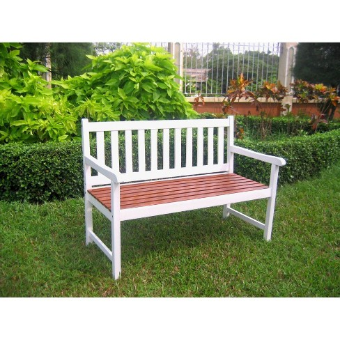 International Caravan Highland 4' Wood Patio Bench - image 1 of 1