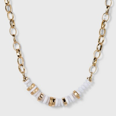 Beaded Statement Necklace - A New Day™ Ivory