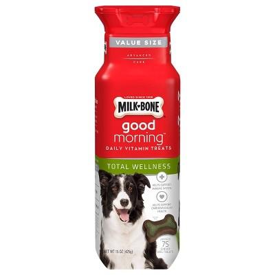 Milk-Bone Good Morning Total Wellness Daily Vitamin Treats for Dogs - 15oz