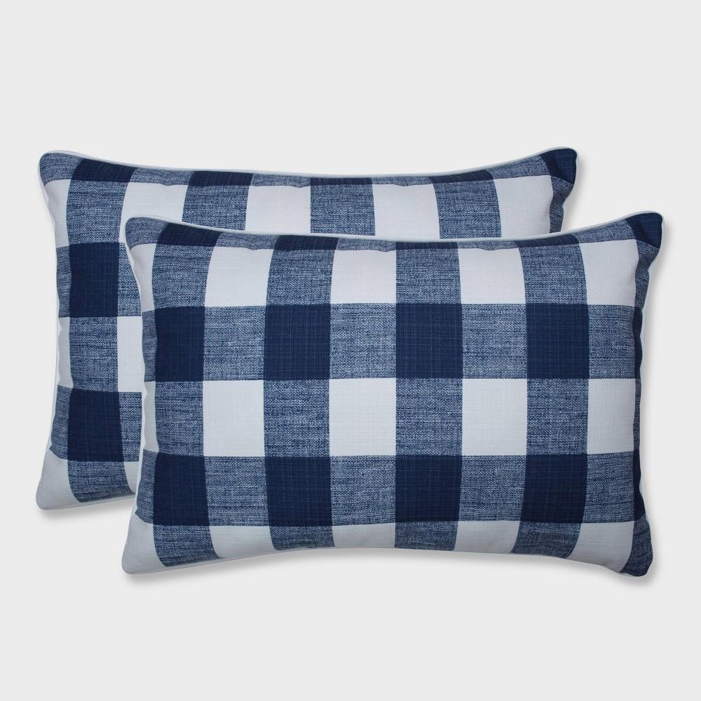 Wondrous 2Pk Oversize Anderson Zaffre Rectangular Throw Pillows Blue Ibusinesslaw Wood Chair Design Ideas Ibusinesslaworg