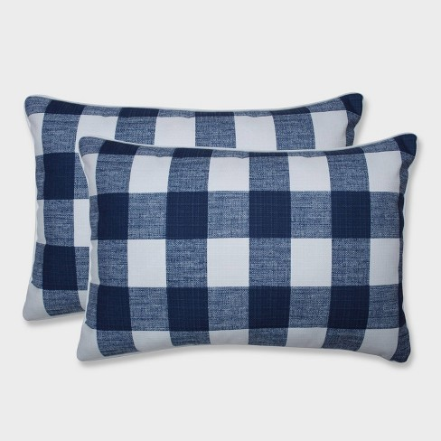 2pk Oversize Anderson Zaffre Rectangular Throw Pillows Blue - Pillow Perfect - image 1 of 1